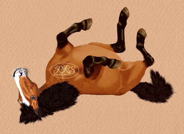 Püherdav hobune