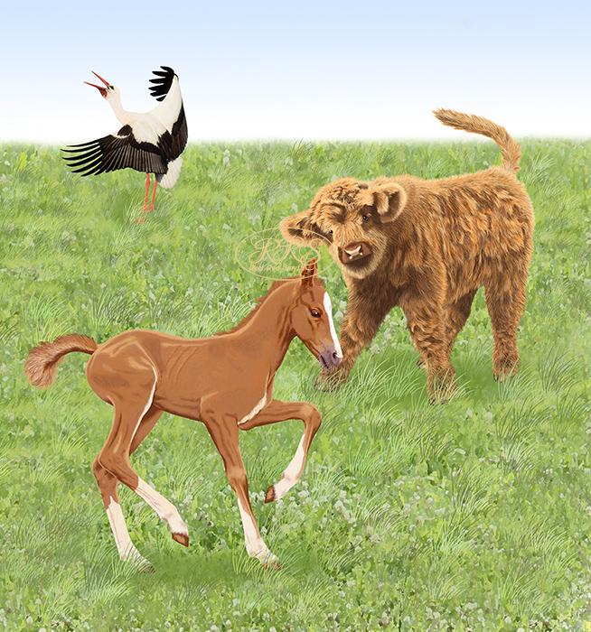 'Our Children's Animal Stories' illustration